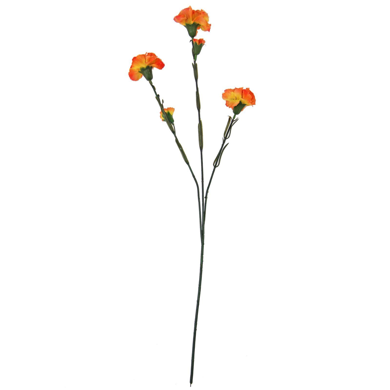 Large 3 Head Carnation Spray Artificial Silk Flowers
