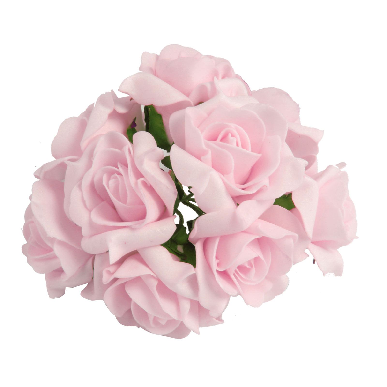 Bunch of 10 Post-Dye Foam Roses! Foam Wedding Flowers Artificial ...