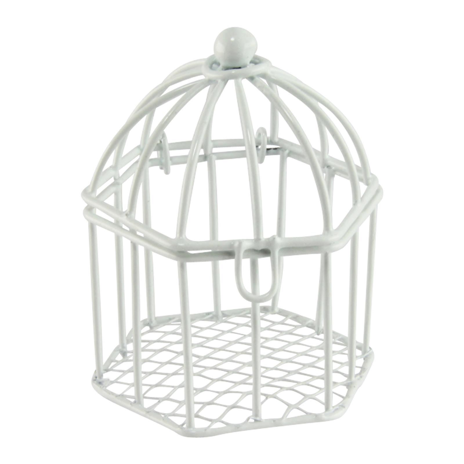 Mini Favour Bird Cages for Weddings in Ivory or White