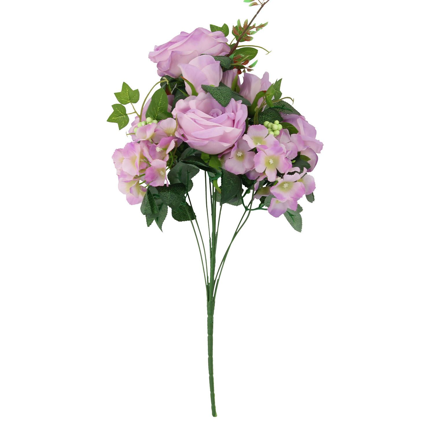 Xl 9 Head Rose And Hydrangea Bouquet Artificial Silk Fake Flowers