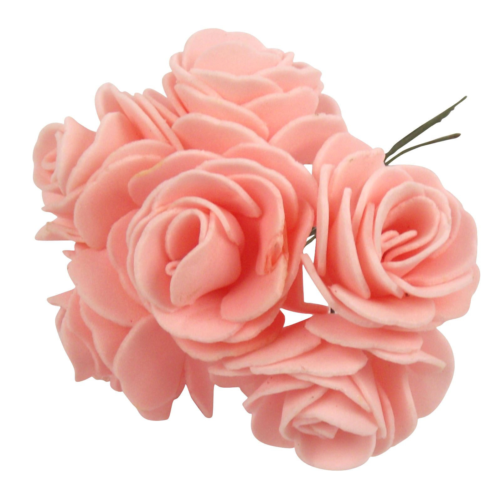 2x bunches 4cm small foam open roses craft buttonhole for Small flowers for crafts