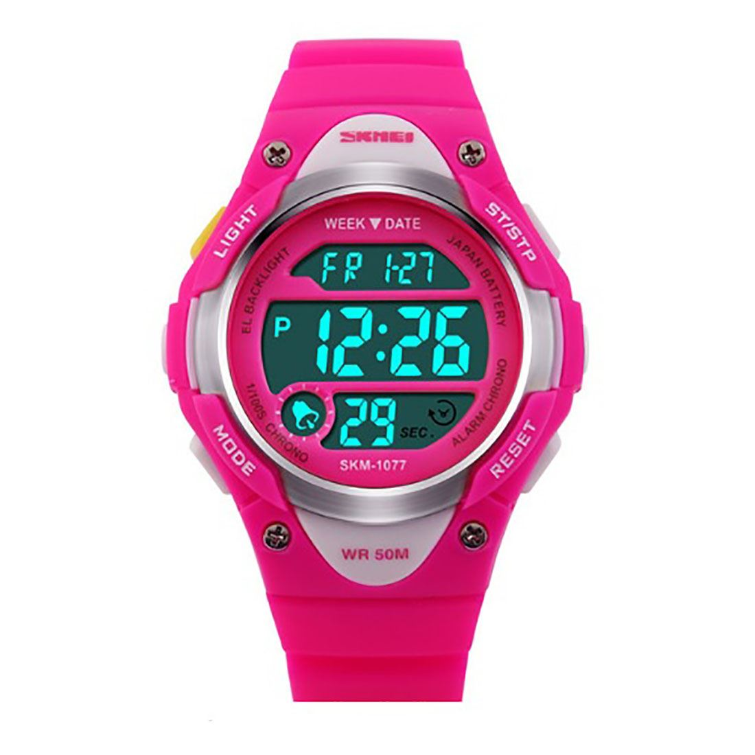 Boys-And-Girls-Pink-Blue-Digital-Watch-With-Stopwatch-Alarm-Light-Ages-6-13