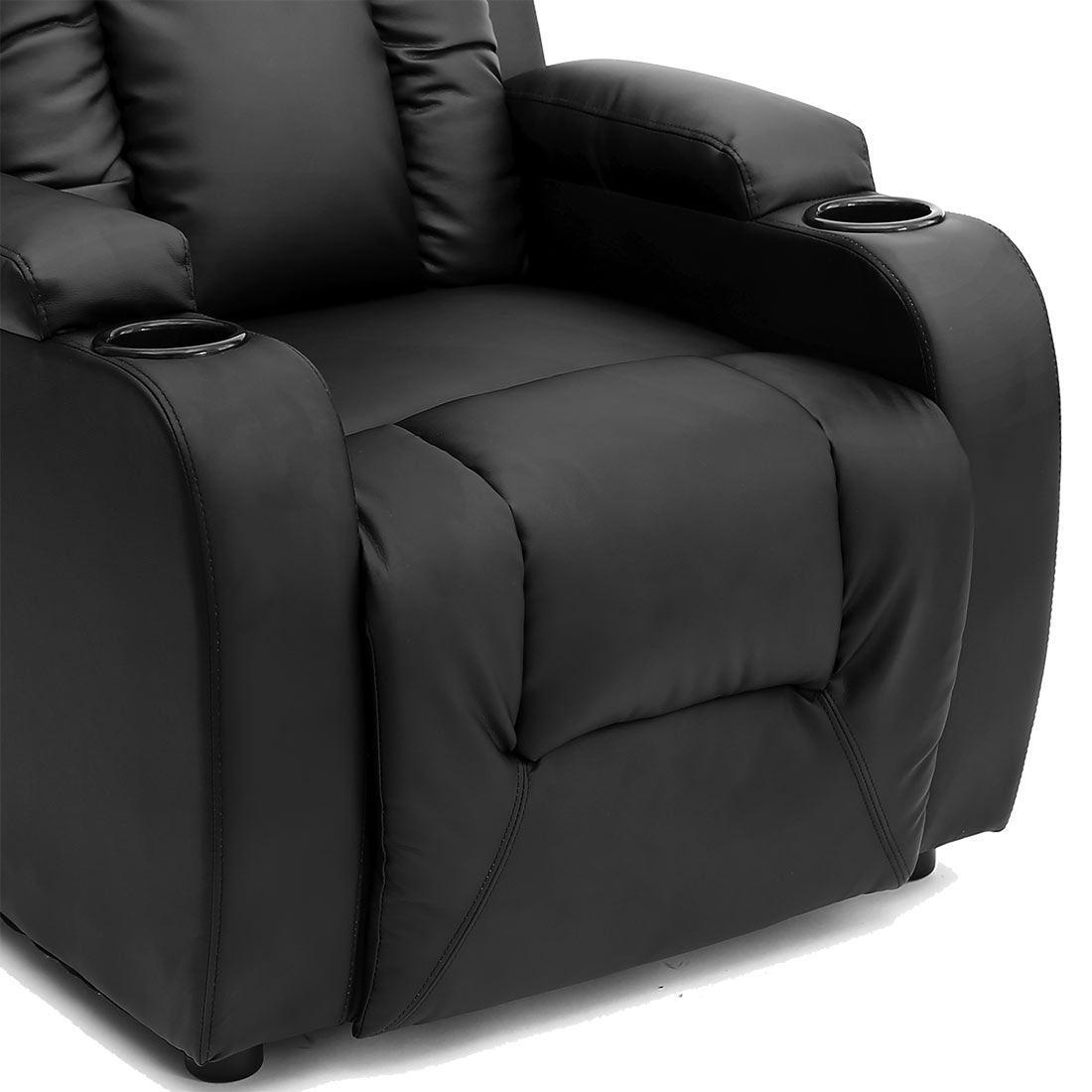 item specifics - Black Leather Recliner
