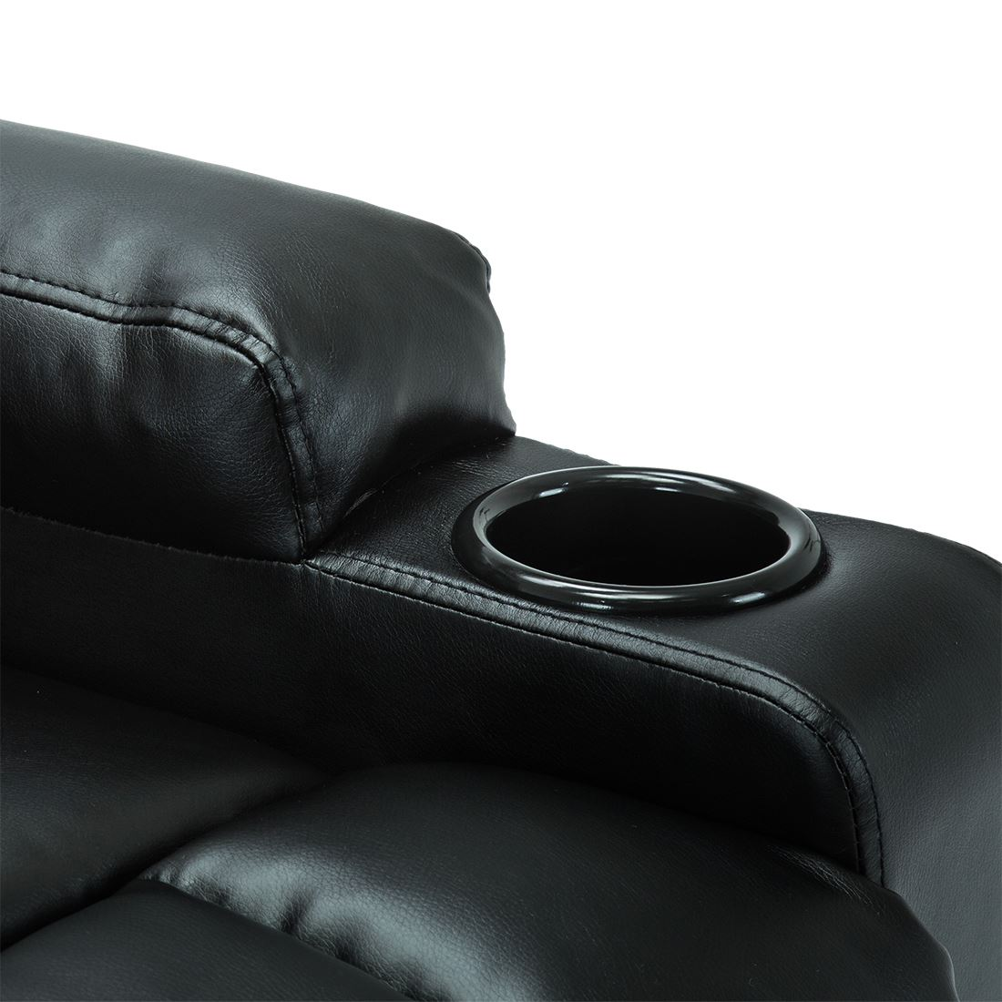 STUDIO-LEATHER-RECLINER-w-DRINK-HOLDERS-ARMCHAIR-SOFA-CHAIR-CINEMA-GAMING thumbnail 8