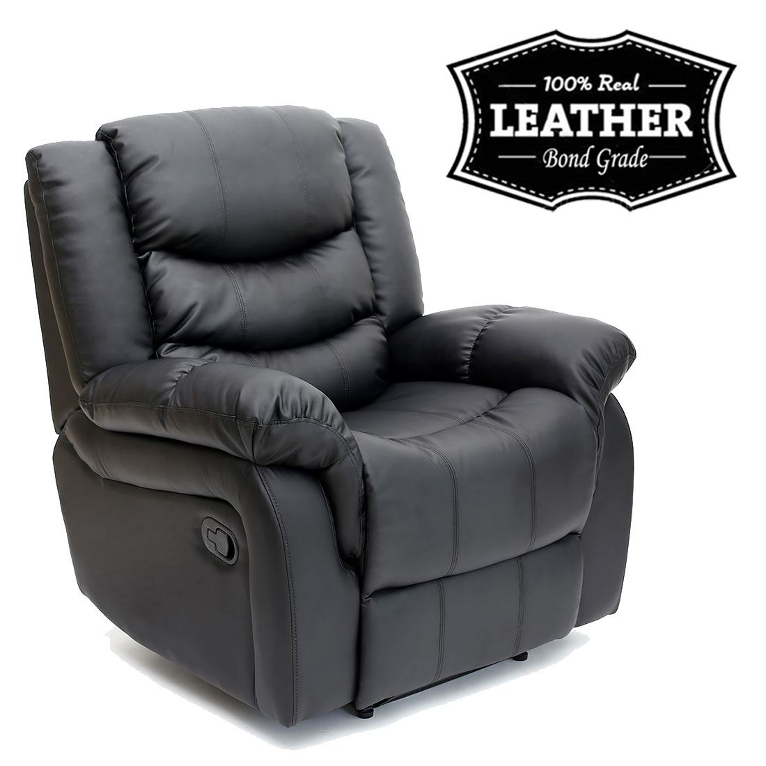 SEATTLE-LEATHER-RECLINER-ARMCHAIR-SOFA-HOME-LOUNGE-CHAIR-  sc 1 st  eBay & SEATTLE LEATHER RECLINER ARMCHAIR SOFA HOME LOUNGE CHAIR RECLINING ... islam-shia.org