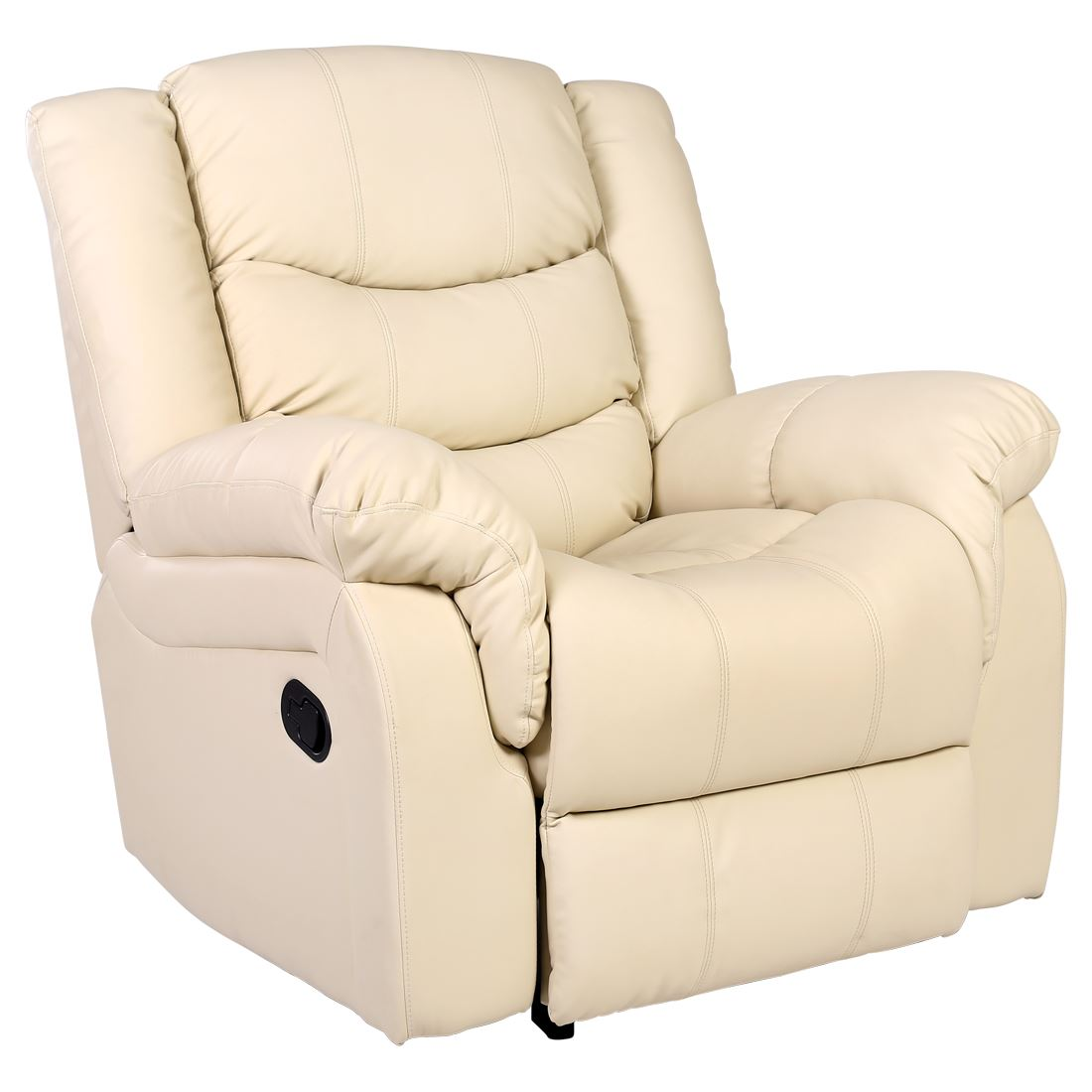Item specifics  sc 1 st  eBay & SEATTLE CREAM LEATHER RECLINER ARMCHAIR SOFA HOME LOUNGE CHAIR ... islam-shia.org