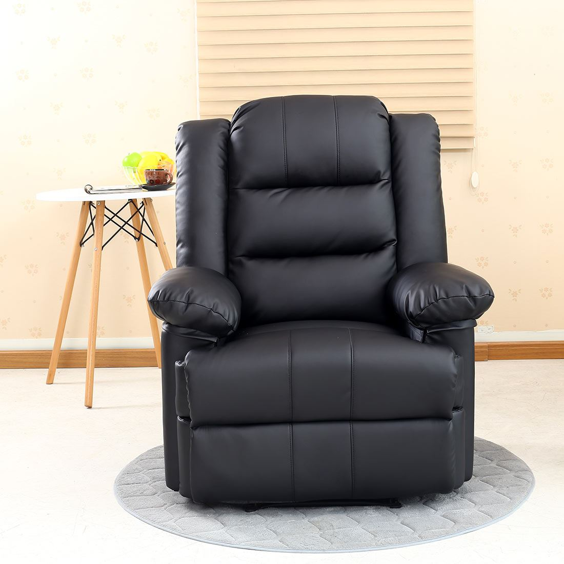 Loxley Leather Recliner Armchair Sofa Home Lounge Chair