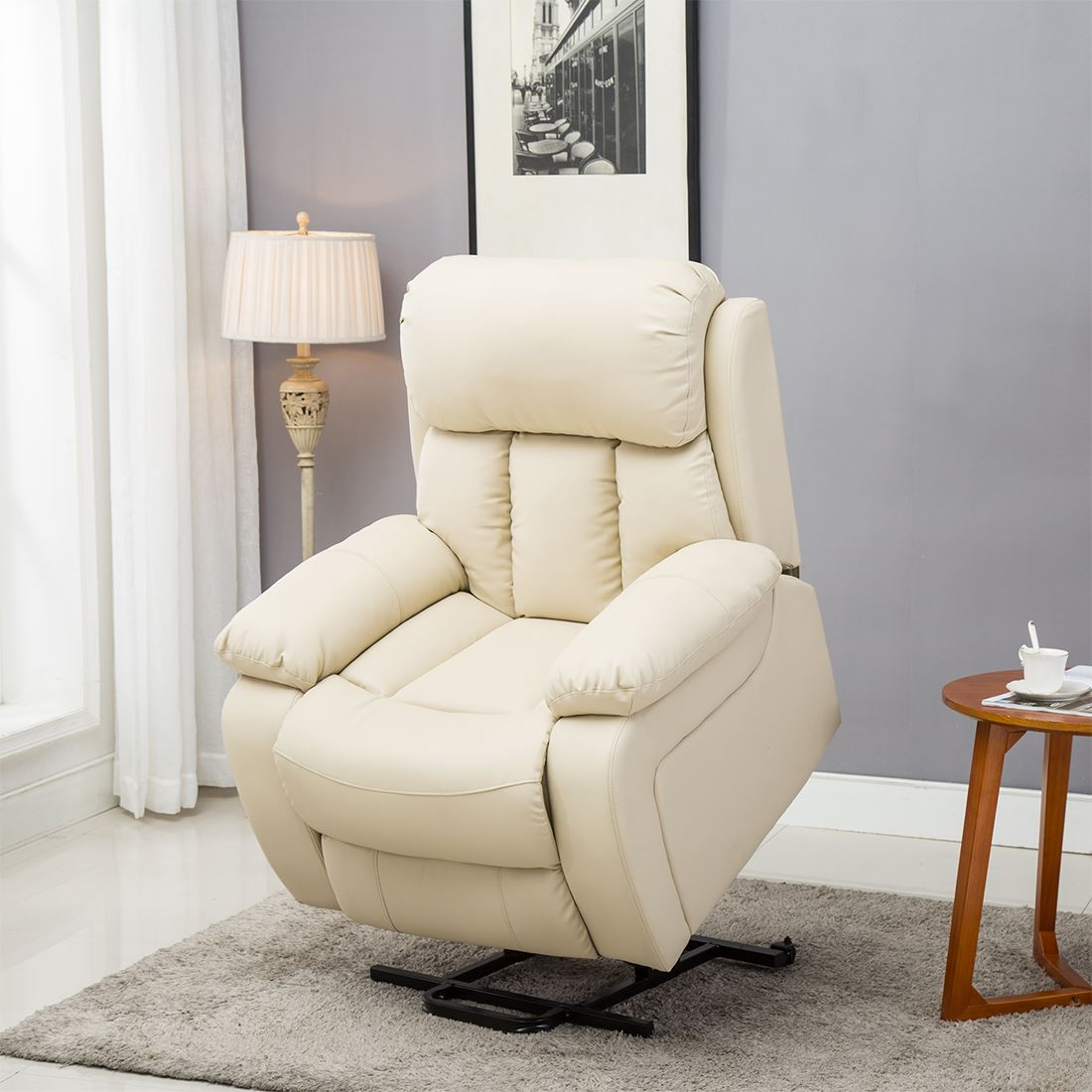 CHESTER-ELECTRIC-RISE-LEATHER-RECLINER-POWER-ARMCHAIR-HEATED-MASSAGE-SOFA-CHAIR thumbnail 19