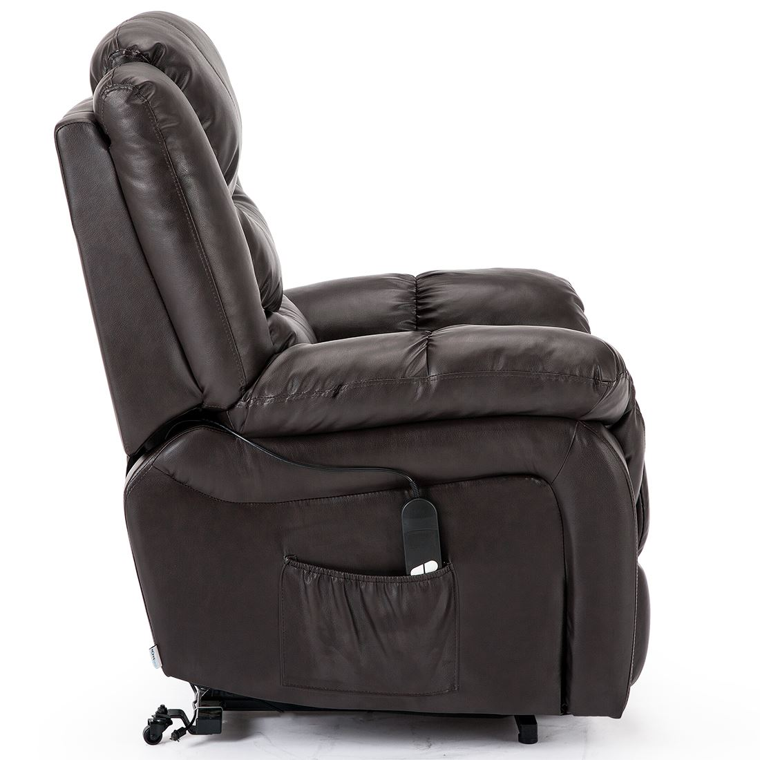 SEATTLE-ELECTRIC-RISE-REAL-LEATHER-RECLINER-ARMCHAIR-SOFA-HOME-LOUNGE-CHAIR thumbnail 16