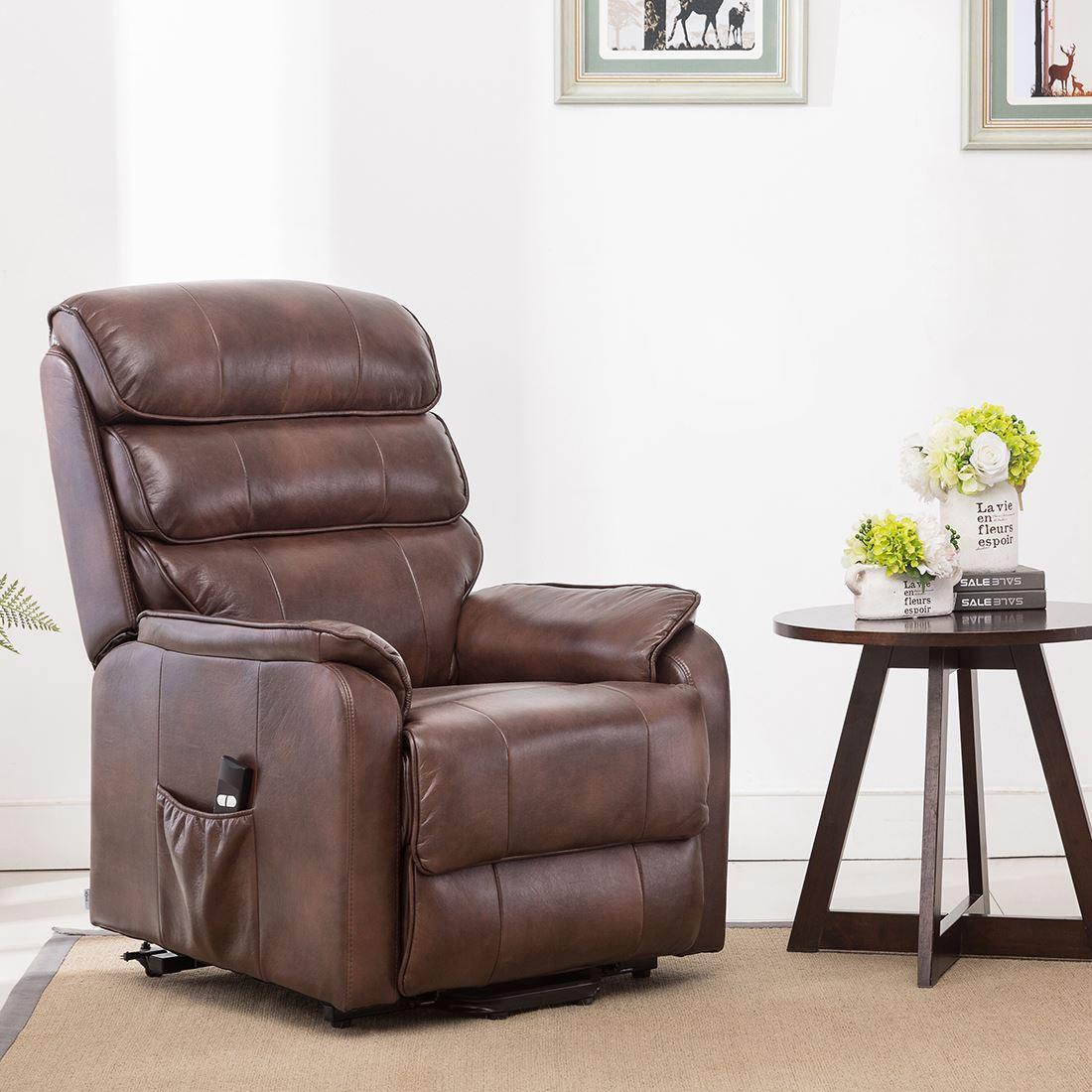 Pleasing Details About Buckingham Electric Rise Recliner Leather Air Riser Sofa Armchair Lounge Chair Creativecarmelina Interior Chair Design Creativecarmelinacom