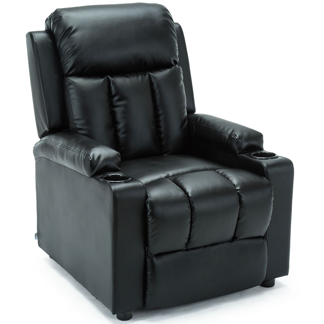 STUDIO-LEATHER-RECLINER-w-DRINK-HOLDERS-ARMCHAIR-SOFA-CHAIR-CINEMA-GAMING thumbnail 4