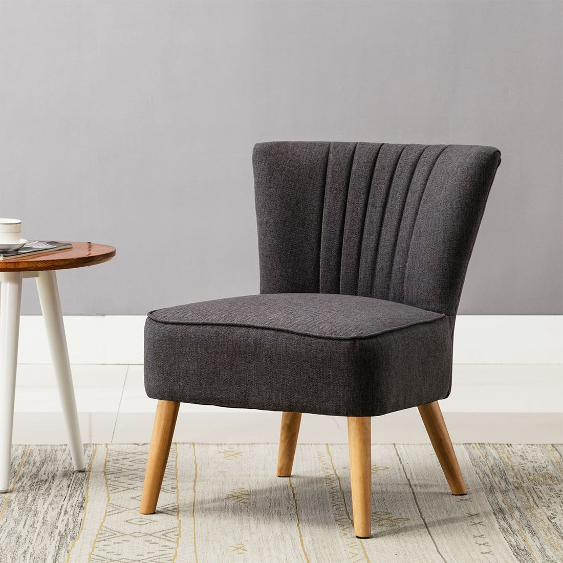 Ayla Linen Retro Occasional Hallway Bedroom Living Room Accent Chair Fabric Tub Ebay