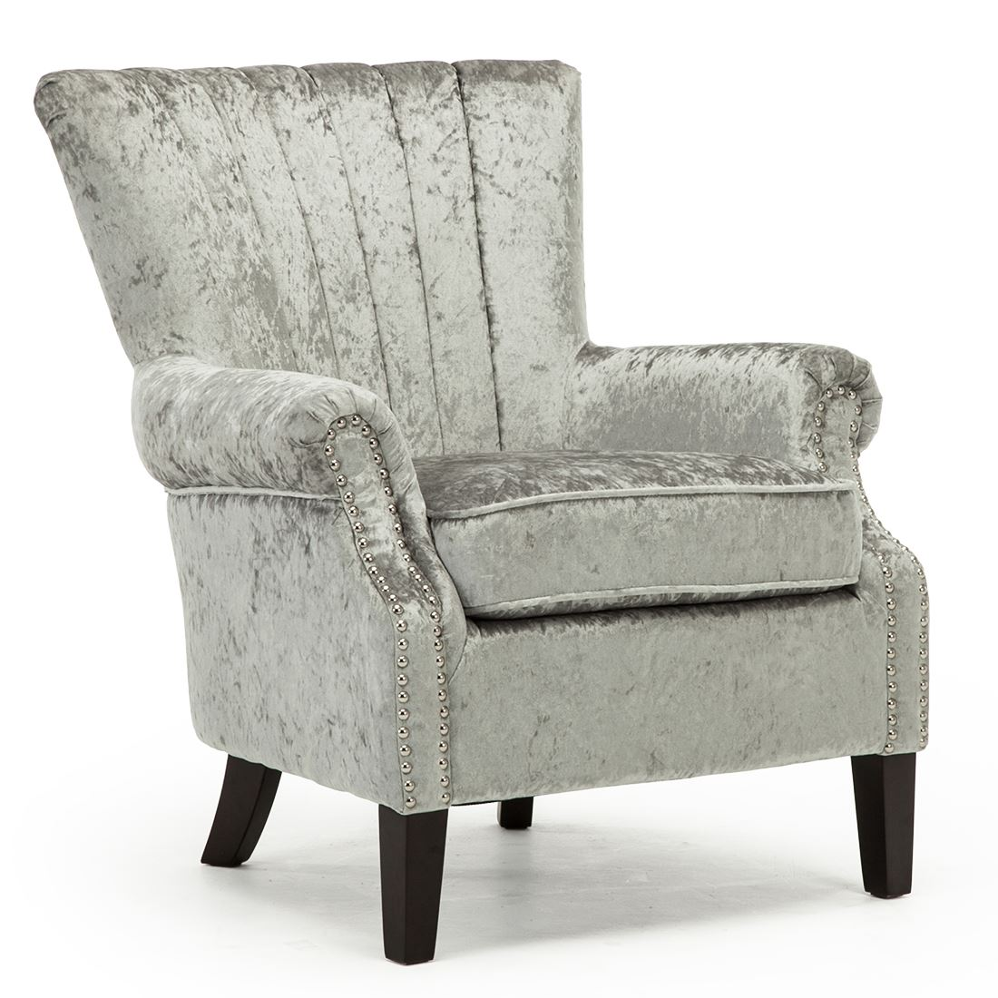 Exceptionnel Olenka Crushed Velvet Wing Back Occasional Bedroom Accent Chair Fabric  Armchair