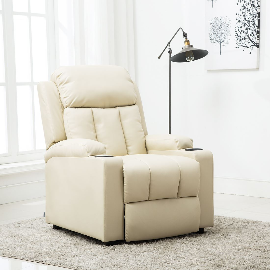 STUDIO-LEATHER-RECLINER-w-DRINK-HOLDERS-ARMCHAIR-SOFA-CHAIR-CINEMA-GAMING thumbnail 20