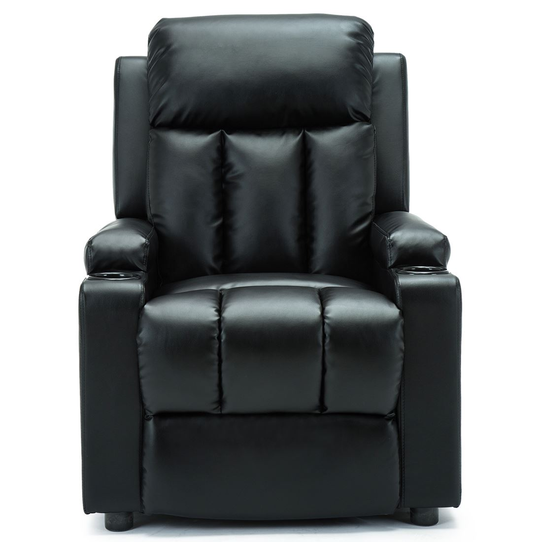 STUDIO-LEATHER-RECLINER-w-DRINK-HOLDERS-ARMCHAIR-SOFA-CHAIR-CINEMA-GAMING thumbnail 10