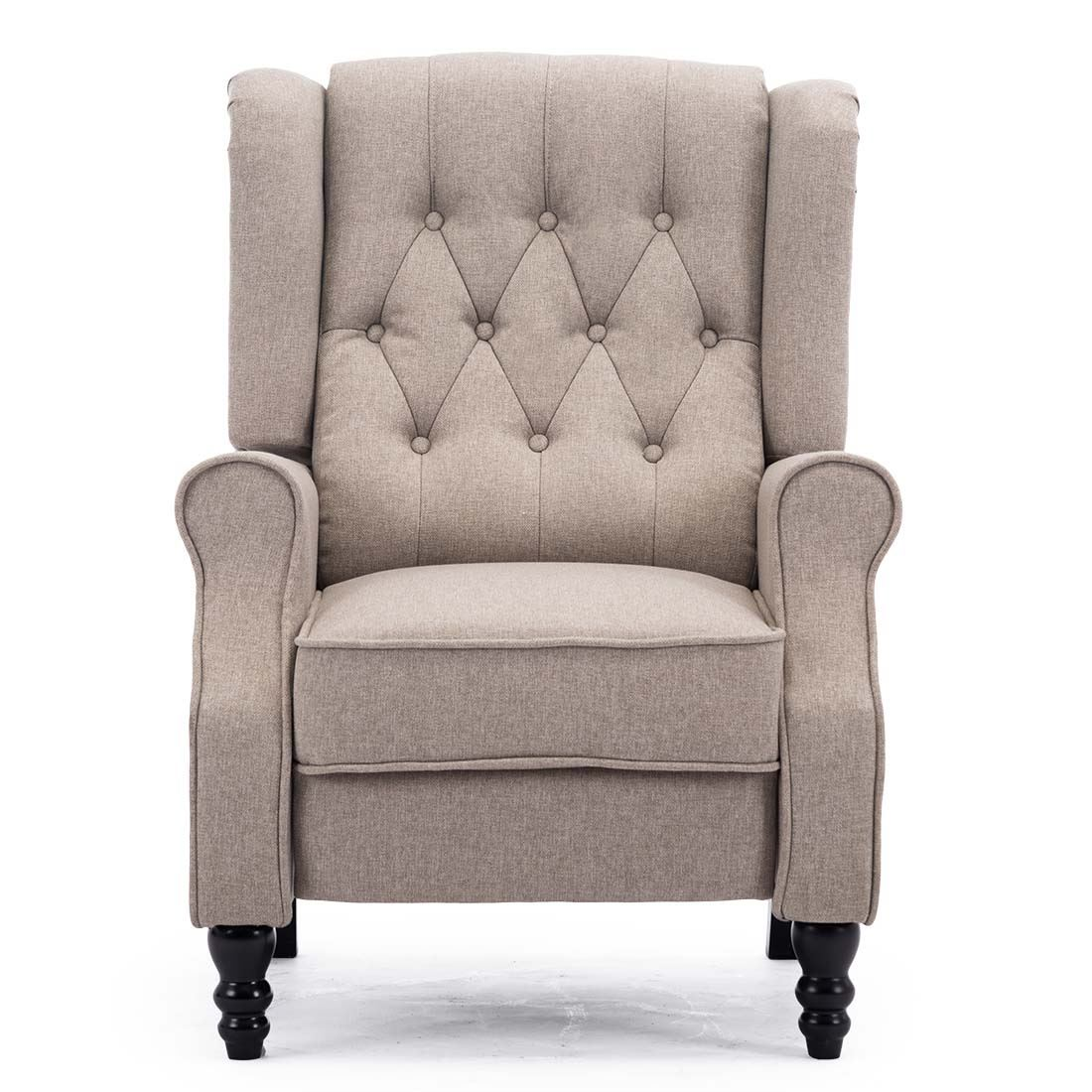 Details about ALTHORPE WING BACK RECLINER CHAIR FABRIC BUTTON FIRESIDE OCCASIONAL ARMCHAIR