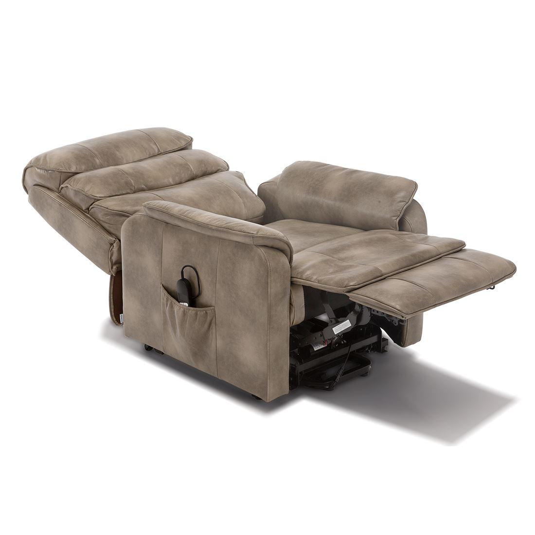 Buckingham Electric Rise Recliner Leather Air Riser Sofa