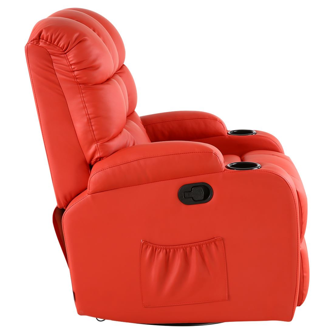 Red Leather Reclining Chair regal red leather recliner chair rocking massage swivel heated