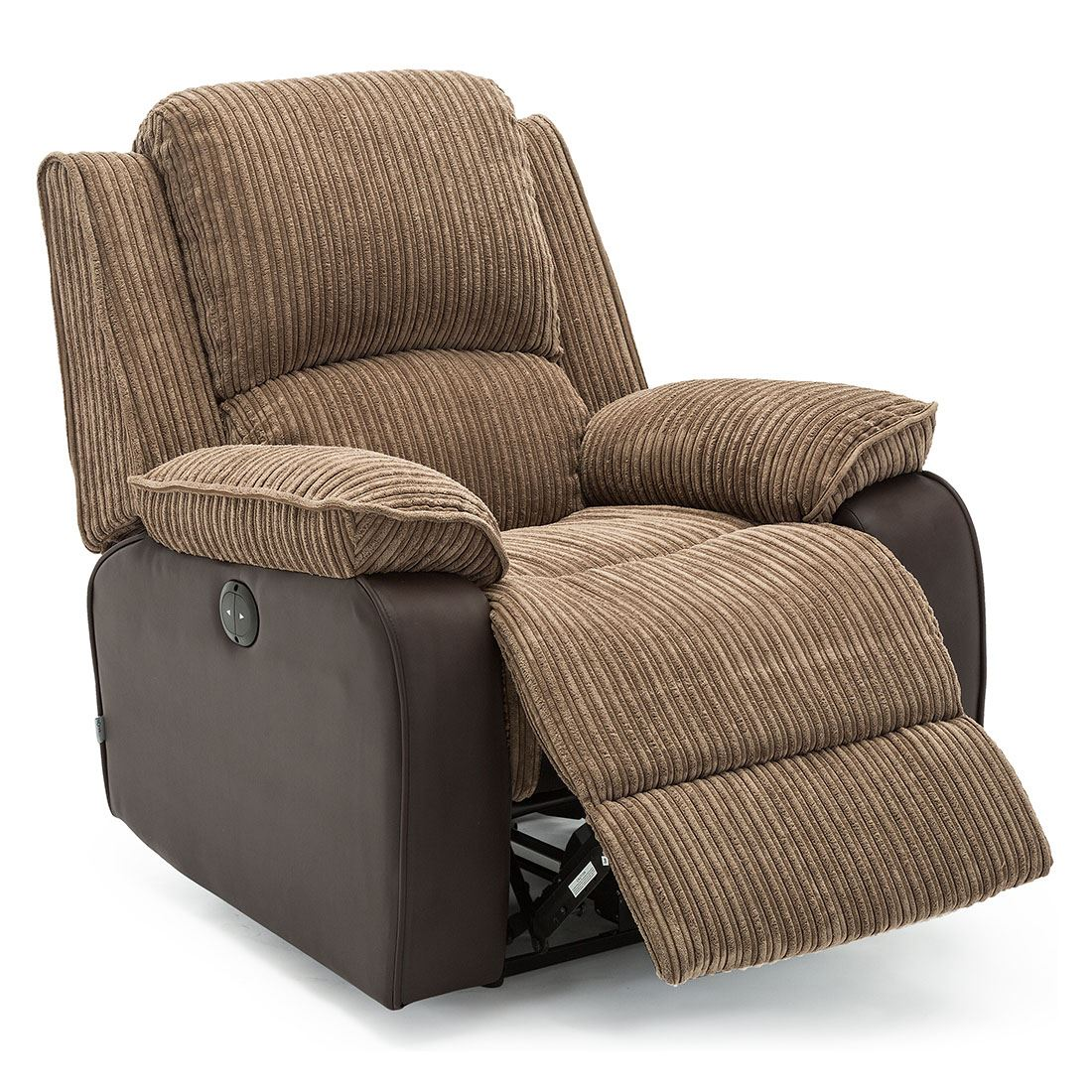 POSTANA JUMBO CORD FABRIC POWER RECLINER ARMCHAIR ELECTRIC ...