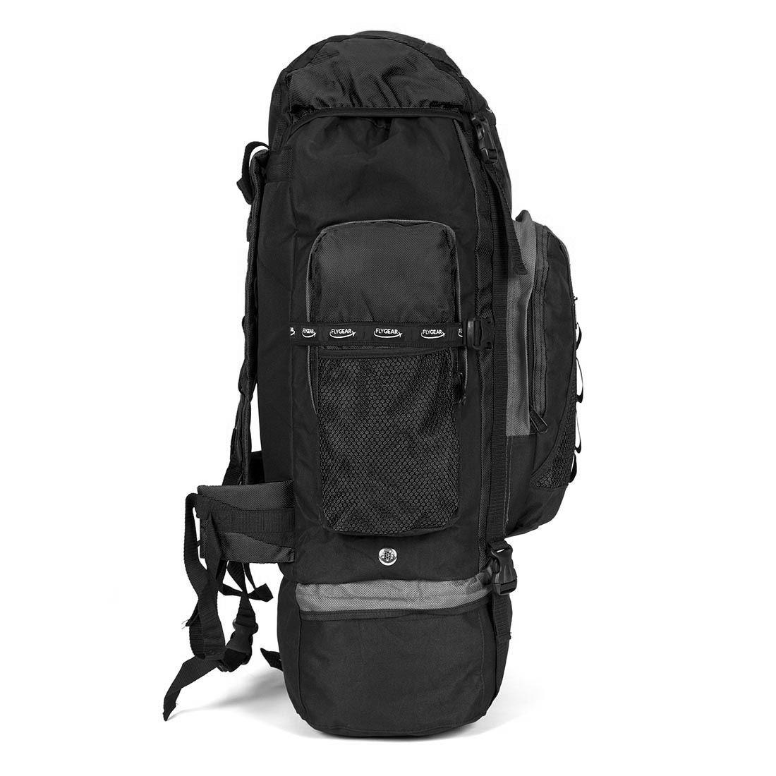 extra large 120 l camping backpack hiking travel rucksack. Black Bedroom Furniture Sets. Home Design Ideas