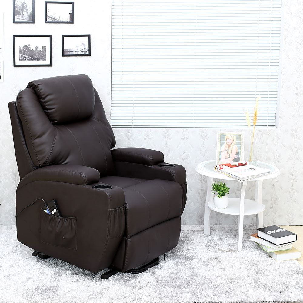 CINEMO-ELECRTIC-RISE-RECLINER-LEATHER-MASSEAGE-HEAT-ARMCHAIR- & CINEMO ELECRTIC RISE RECLINER LEATHER MASSEAGE HEAT ARMCHAIR SOFA ... islam-shia.org