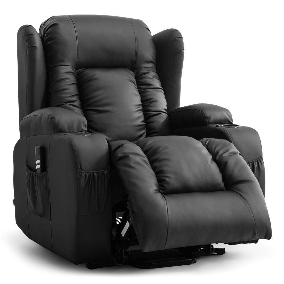 CAESAR-DUAL-MOTOR-RISER-RECLINER-LEATHER-MOBILITY-ARMCHAIR-MASSAGE-HEATED-CHAIR thumbnail 4