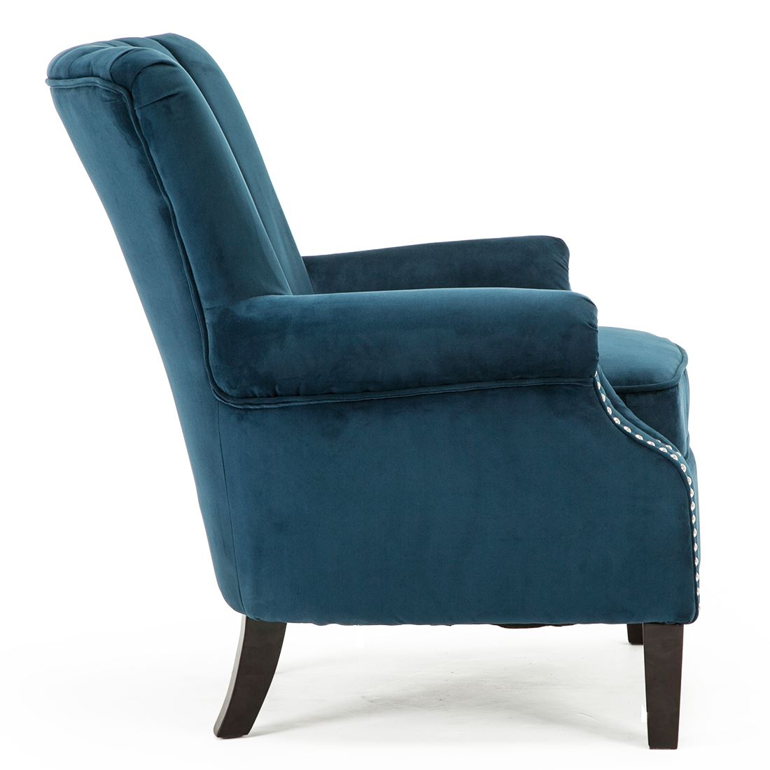 Olenka Velvet Wing Back Occasional Accent Bedroom Armchair Fabric Tub Chair Ebay