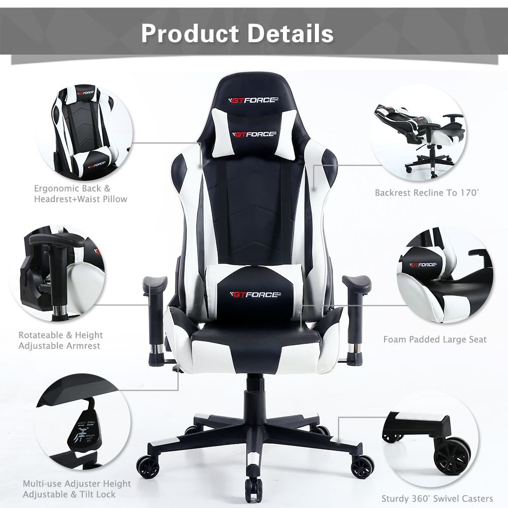 GTFORCE-PRO-FX-RECLINING-SPORTS-RACING-GAMING-OFFICE-DESK-PC-CAR-LEATHER-CHAIR