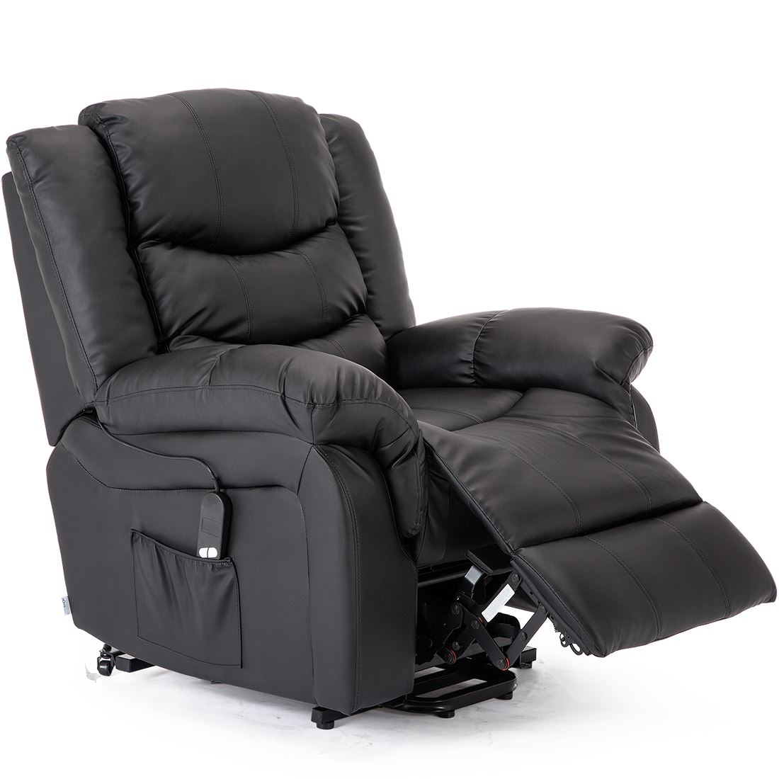 SEATTLE-ELECTRIC-RISE-REAL-LEATHER-RECLINER-ARMCHAIR-SOFA-HOME-LOUNGE-CHAIR thumbnail 6