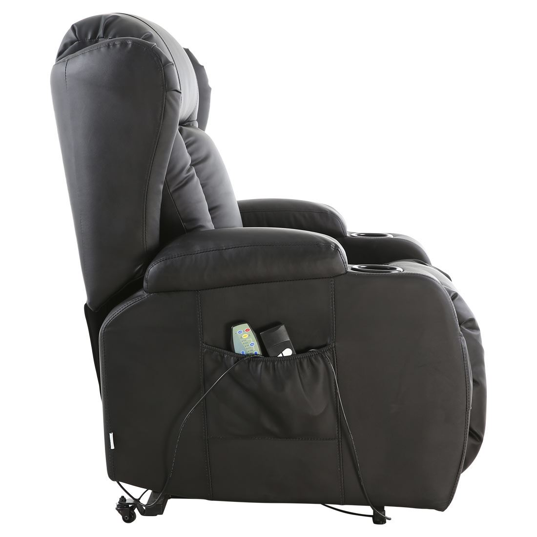 Caesar Electric Rise Recliner Winged Leather Armchair