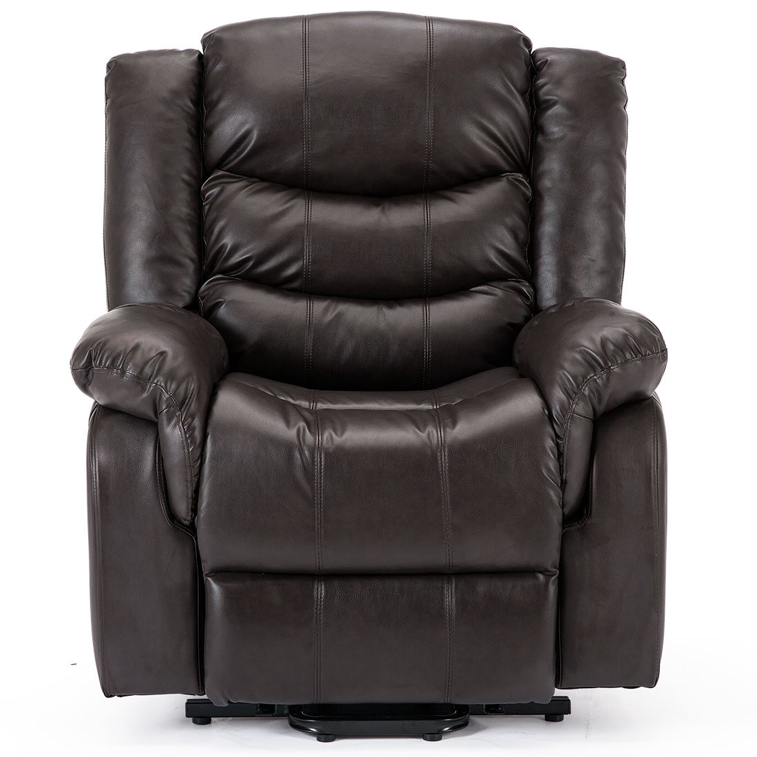 Seattle Electric Rise Real Leather Recliner Armchair Sofa