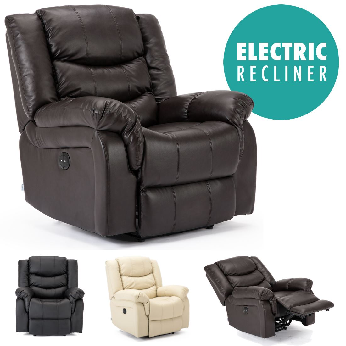 Astounding Details About Seattle Electric Leather Auto Recliner Armchair Sofa Home Lounge Chair Cjindustries Chair Design For Home Cjindustriesco