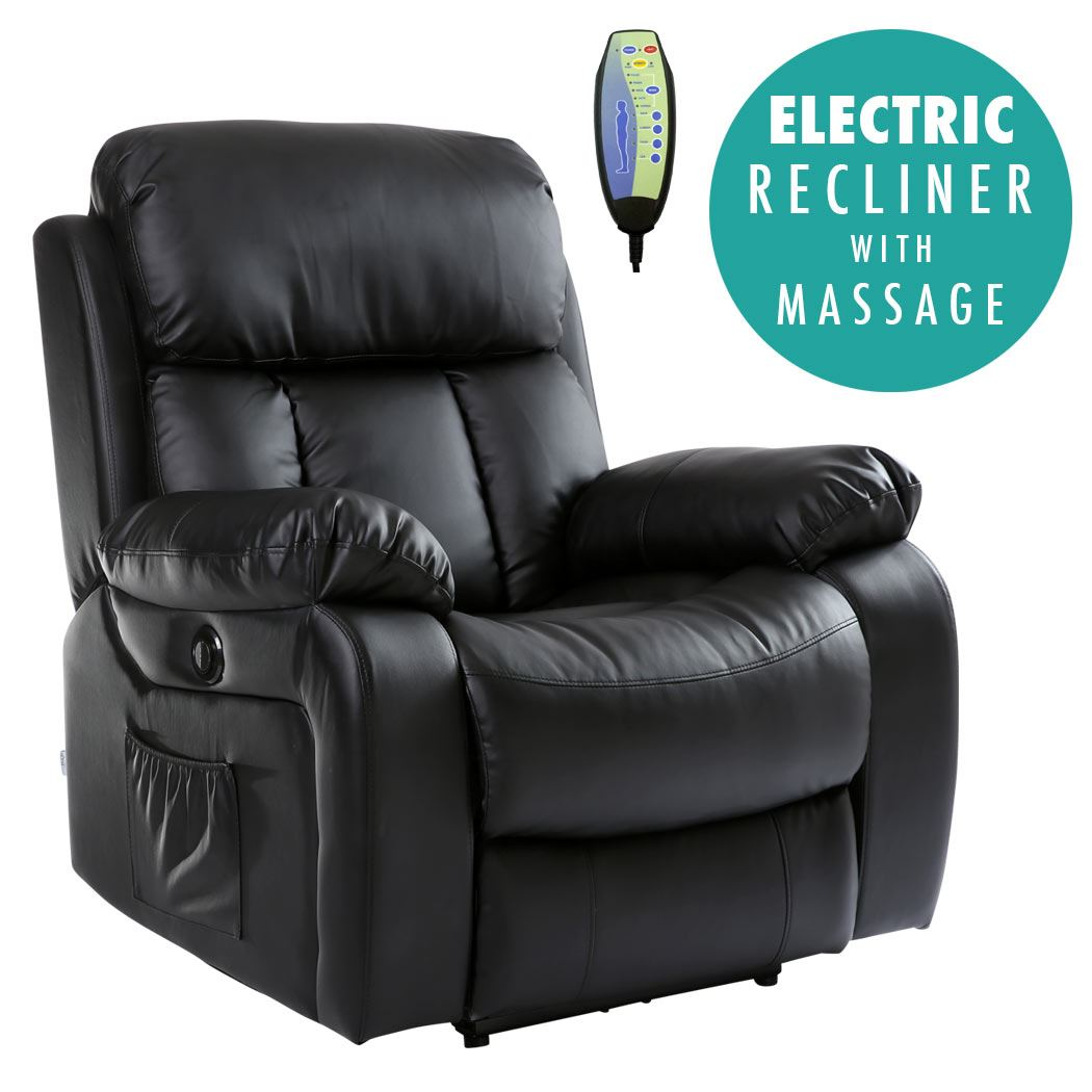 CHESTER-ELECTRIC-HEATED-LEATHER-MASSAGE-RECLINER-CHAIR-SOFA-  sc 1 st  eBay : electric reclining armchair - islam-shia.org