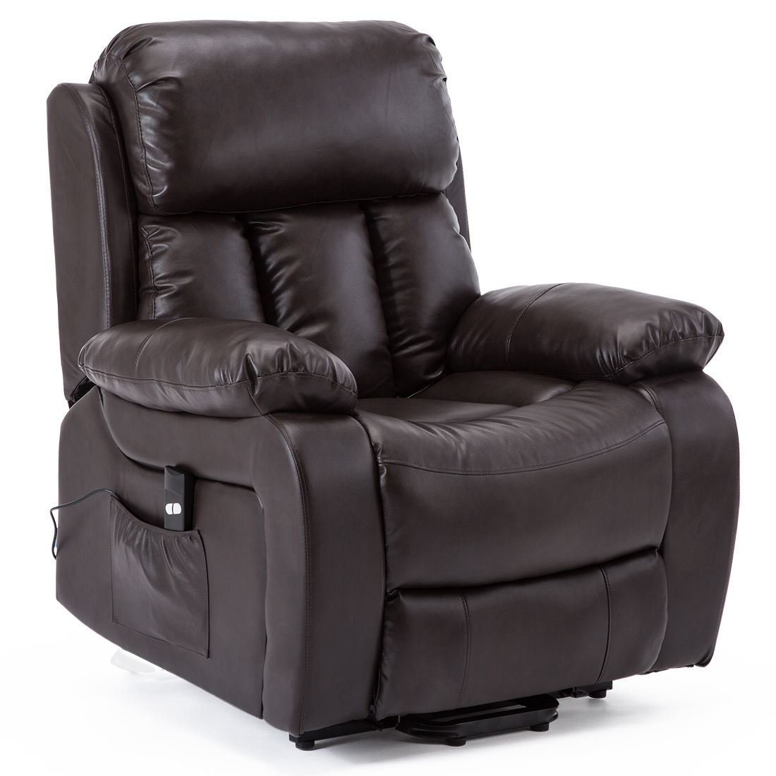 CHESTER-ELECTRIC-RISE-LEATHER-RECLINER-POWER-ARMCHAIR-HEATED-MASSAGE-SOFA-CHAIR thumbnail 11