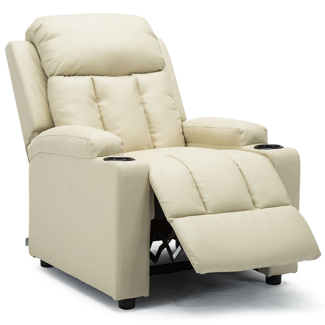 STUDIO-LEATHER-RECLINER-w-DRINK-HOLDERS-ARMCHAIR-SOFA-CHAIR-CINEMA-GAMING thumbnail 23