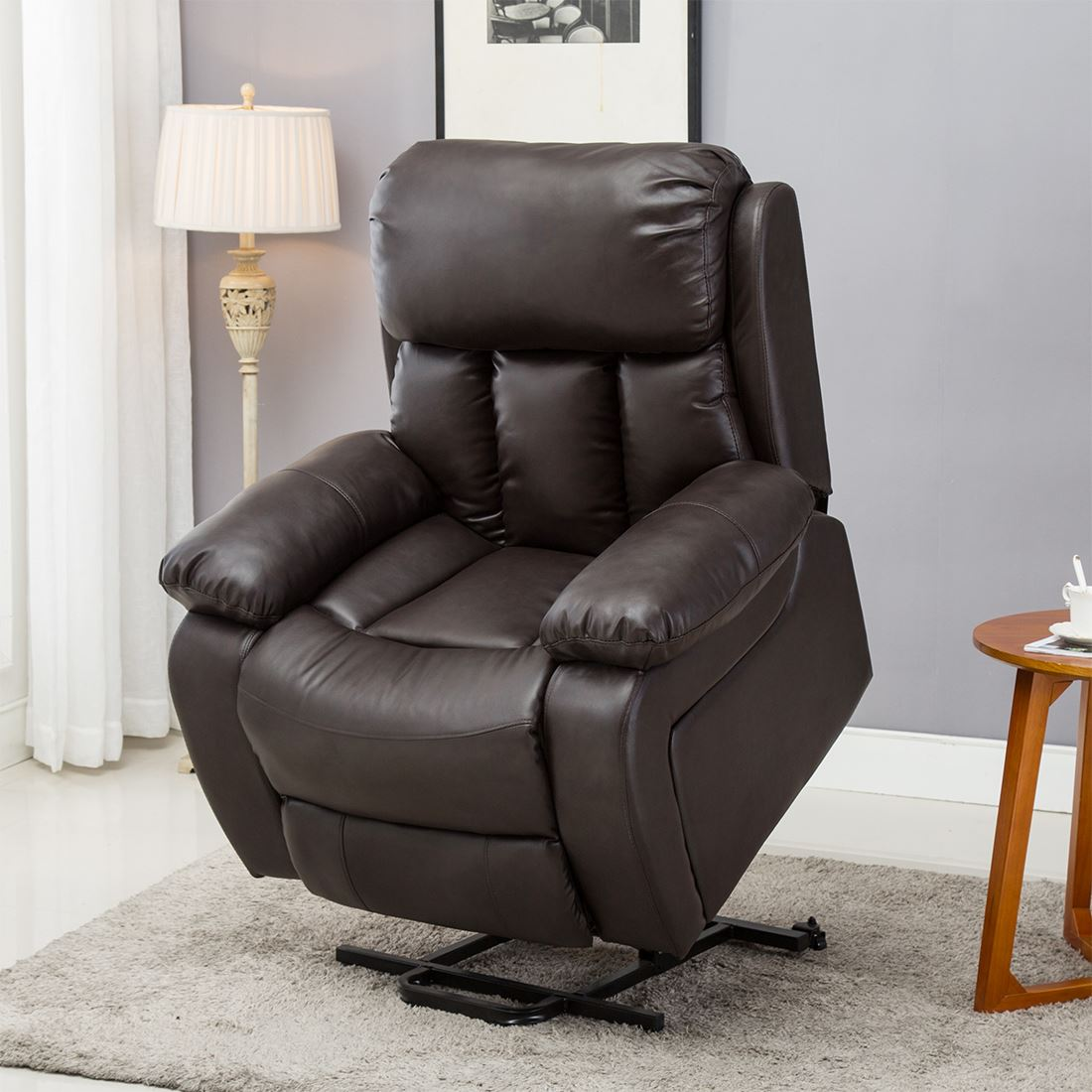 CHESTER-ELECTRIC-RISE-LEATHER-RECLINER-POWER-ARMCHAIR-HEATED-MASSAGE-SOFA-CHAIR thumbnail 10