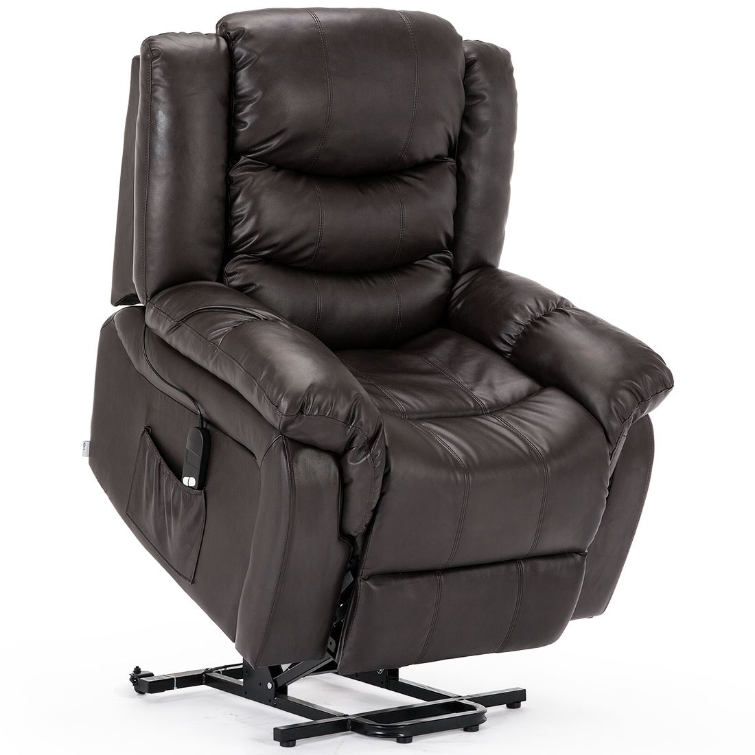 SEATTLE-ELECTRIC-RISE-REAL-LEATHER-RECLINER-ARMCHAIR-SOFA-HOME-LOUNGE-CHAIR thumbnail 17