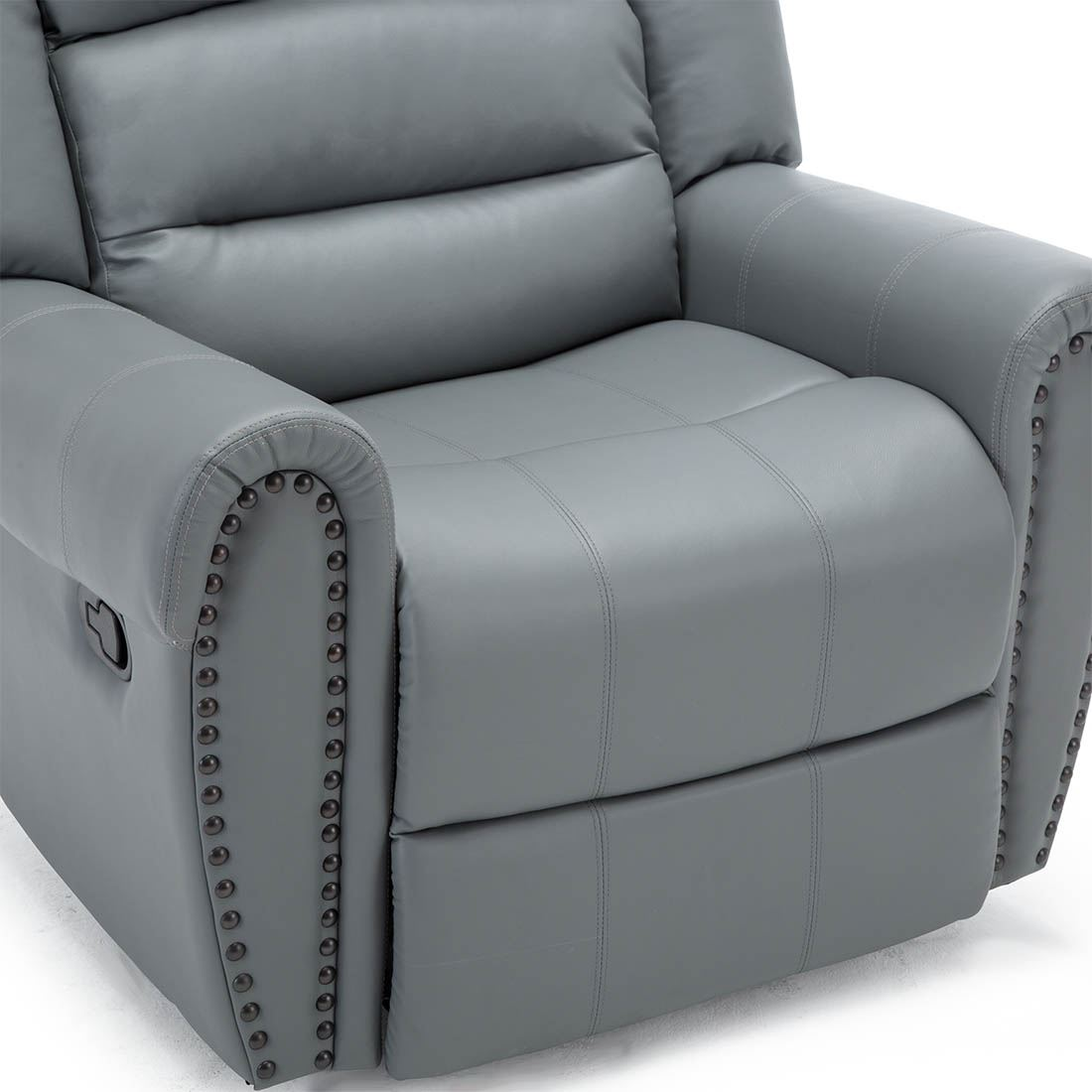 Denver Recliner Sofa: DENVER BONDED LEATHER RECLINER ARMCHAIR STUD SOFA HOME