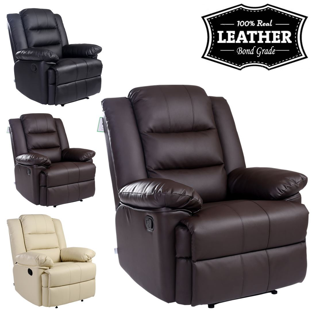 Item specifics  sc 1 st  eBay & LOXLEY LEATHER RECLINER ARMCHAIR SOFA HOME LOUNGE CHAIR RECLINING ... islam-shia.org