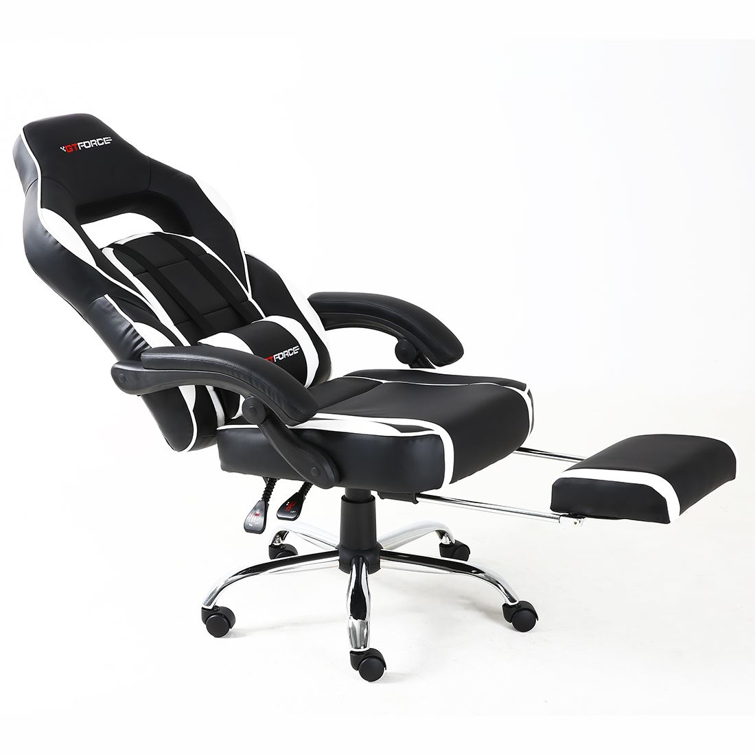 Gtforce Pace Reclining Leather Sports Racing Office Desk