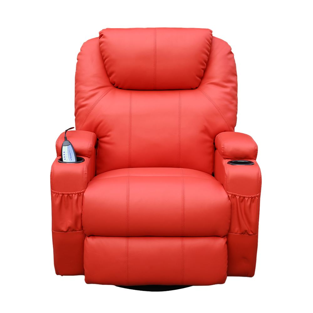Cinemo Leather Recliner Chair Rocking Massage Swivel