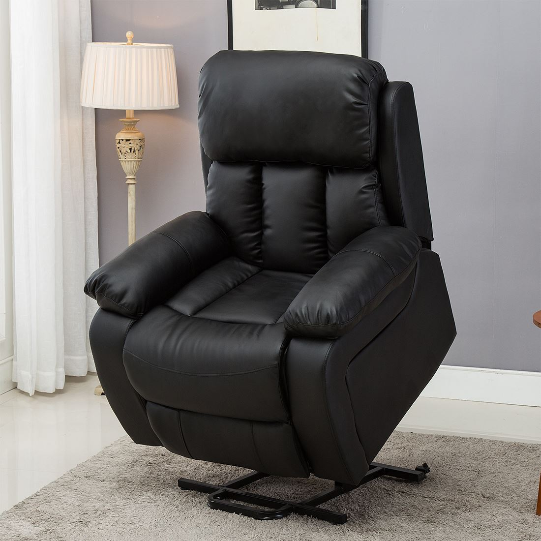 CHESTER ELECTRIC RISE LEATHER RECLINER POWER ARMCHAIR ...