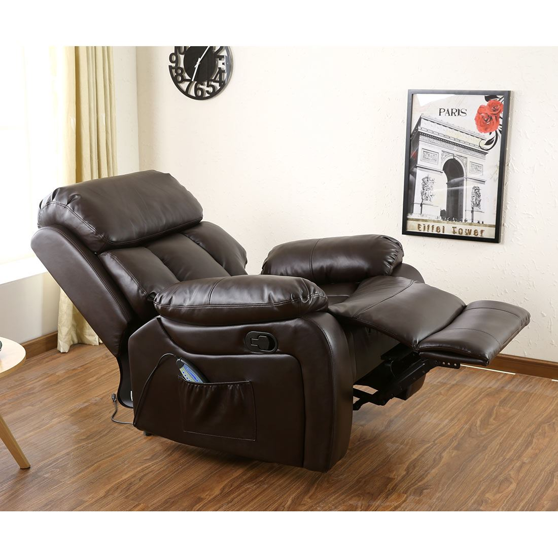Attrayant CHESTER HEATED LEATHER MASSAGE RECLINER CHAIR SOFA LOUNGE