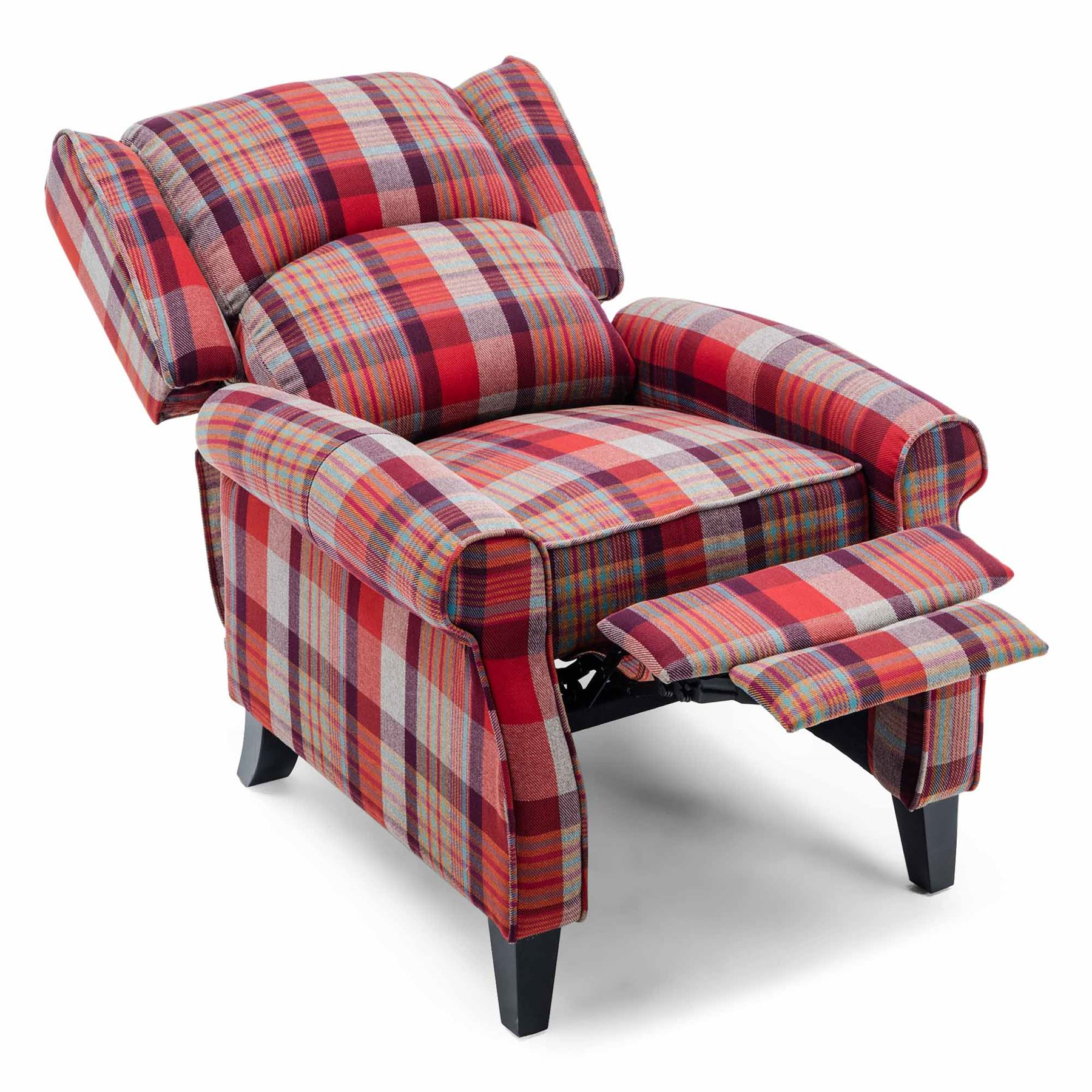 EATON-WING-BACK-FIRESIDE-CHECK-FABRIC-RECLINER-ARMCHAIR-SOFA-LOUNGE-CINEMO-CHAIR