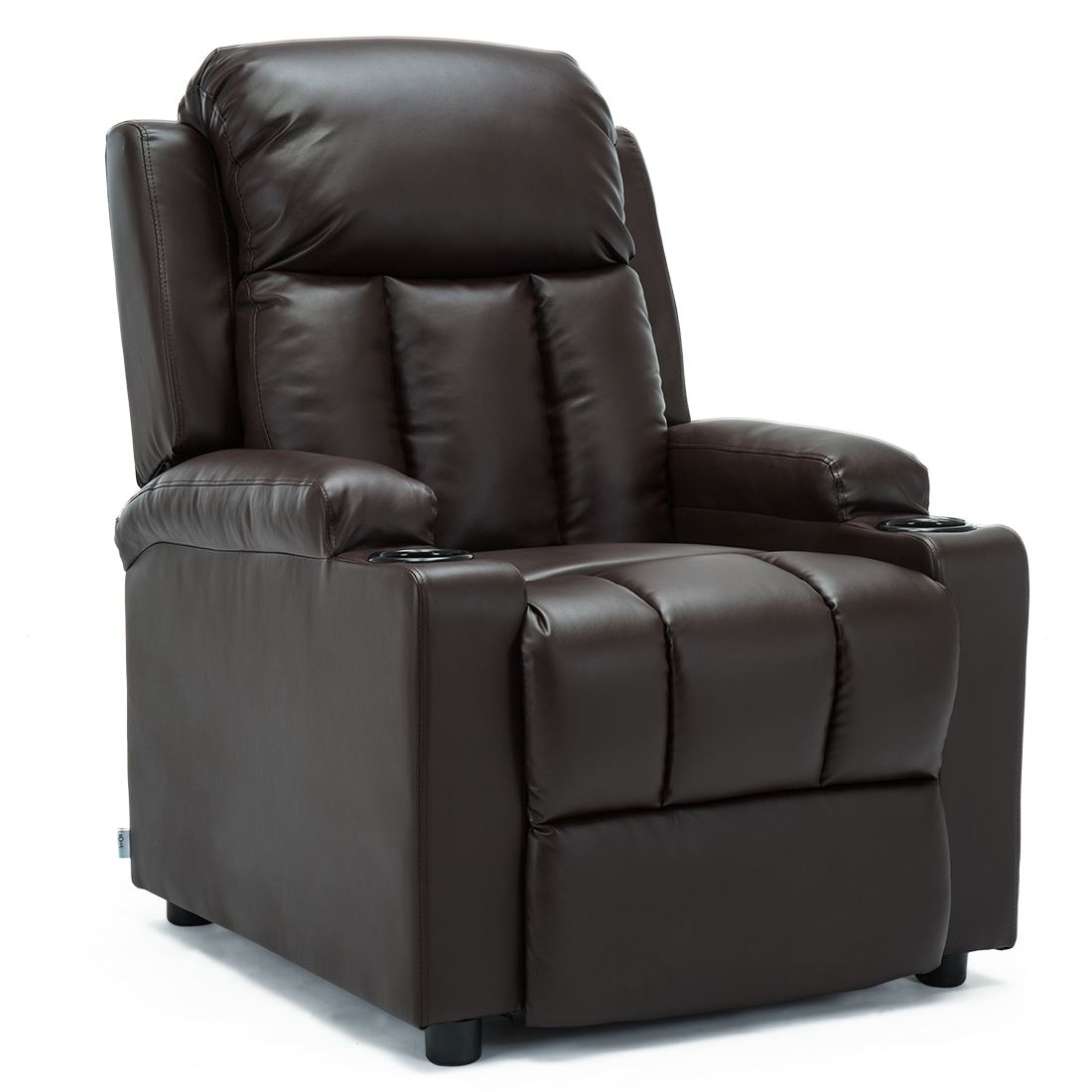 STUDIO-LEATHER-RECLINER-w-DRINK-HOLDERS-ARMCHAIR-SOFA-CHAIR-CINEMA-GAMING thumbnail 13