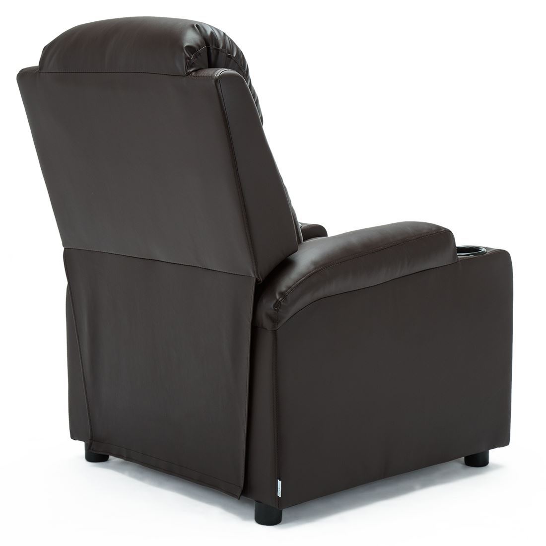 STUDIO-LEATHER-RECLINER-w-DRINK-HOLDERS-ARMCHAIR-SOFA-CHAIR-CINEMA-GAMING thumbnail 16