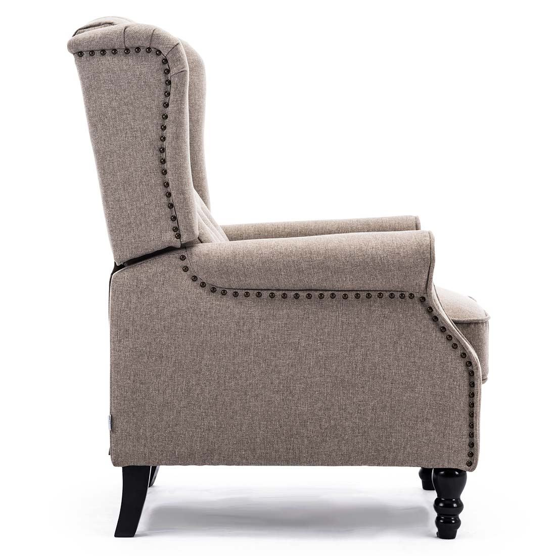 Althorpe Wing Back Recliner Chair Fabric Button Fireside