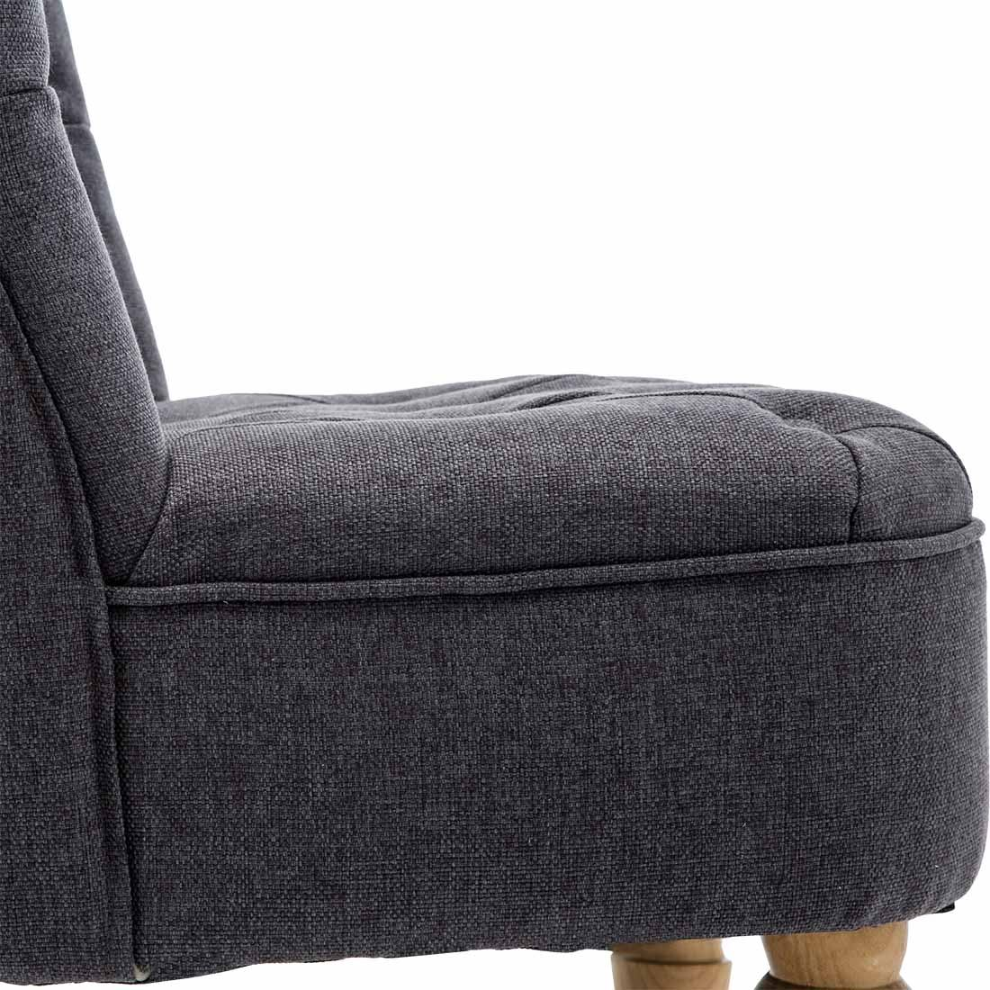 Keela-Velvet-Linen-Button-Back-Occasional-Accent-Bedroom-Lounge-Chair-Tub-Fabric thumbnail 7