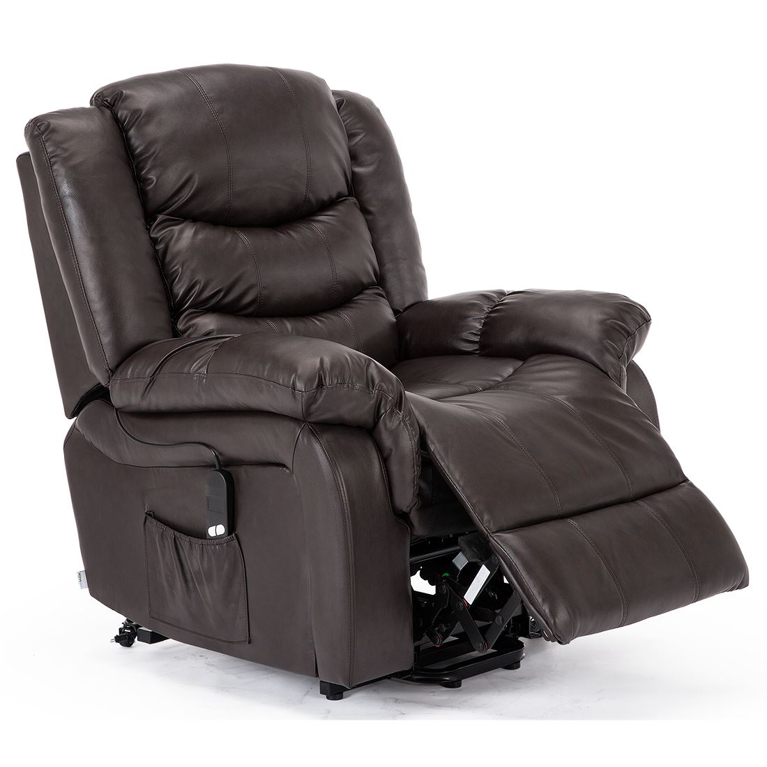 SEATTLE-ELECTRIC-RISE-REAL-LEATHER-RECLINER-ARMCHAIR-SOFA-HOME-LOUNGE-CHAIR thumbnail 14