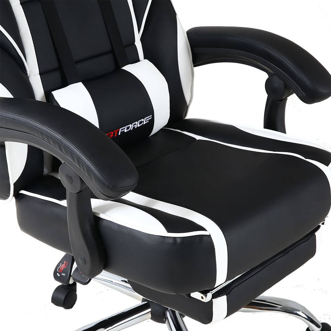 GTFORCE-PACE-RECLINING-LEATHER-SPORTS-RACING-OFFICE-DESK-CHAIR-GAMING-FOOTSTOOL